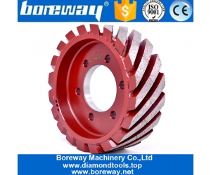 Boreway Factory Price Artificial Calibrating Profiling Wheel Quartz Engineer Stone Grinding Tool Rollers