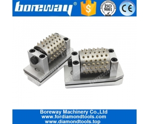 Boreway Factory Provides Carbide Tip Bush Hammer Grinding Roller Wheel Diamond 99 Tooth Tungsten Steel Tools for Manufacturer