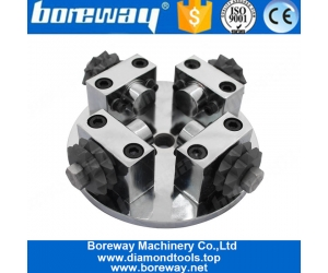 Boreway Factory Sell D125x4TxM14 Diamond Star Shape Bush hammered Roller Disk Apply For Grinding Litchi Surface Suppliers