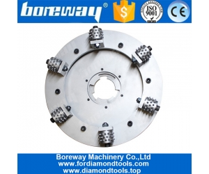 Boreway Factory Supply Alloy Double Layer Rotary 17 Inch Concrete Floor Bush Hammer Wheel For Kindlex Floor Grinder  Plate Disk Disc