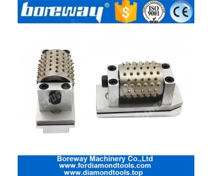 Boreway High Quality 99S Fickert Type Bush Hammer Rollers Grinding Tools For Grinding Stone Manufacturer