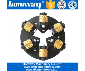 Boreway Profession 270MM HTC Diamond Bush Hammered Plate With 6 Roller 45S Teeth
