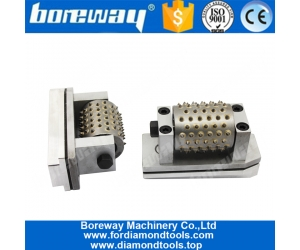 Boreway Profession 99s Peace Rollers Diamond Lychee Surface Fickert Bush Hammer Head Stone Head Abrasive Tools For Floor Suppliers
