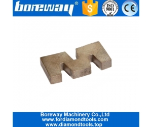 Boreway Silver Weld W Shape Edge Cutting Diamond Segment for Granite