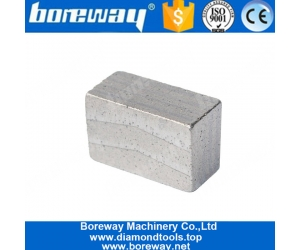 Boreway Silver Welding Diamond Saw Blade Segment For Block Of Cutting Sandstone
