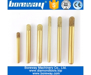 Boreway Superior Vacuum Brazed Diamond CNC engraving Router Bits Drill Tools for granite stone carving
