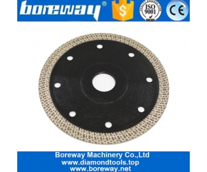 Boreway Tools Factory Price 4.5inch 115mm Smooth Cutting Mesh Segments Blade For Cutting Stone