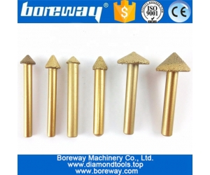 Boreway Vacuum Brazed Marble Stone Diamond Engraving bit for Sculpture 3D Carving use on CNC Machine