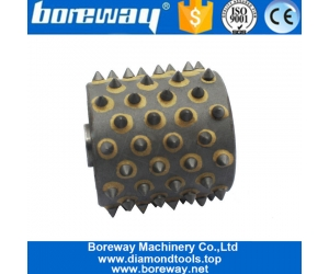 Carbide Tip 72S Bush Hammer Roller Tools Head For Stone Concrete Litchi Manufacturers Factory Wholesale 2020