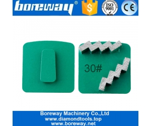 China Factory Diamond Grinding Pad Shoe Concrete Floor Husqvarna With Two z Segment Suppliers