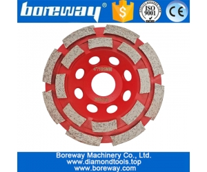 China High quality double row cup wheel segmented diamond grinding cup wheel factory price