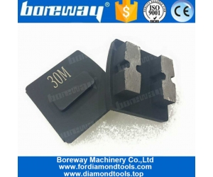 Concrete Abrasive Tools Redi Lock Diamond Grinding Block With Double H Shape Segments