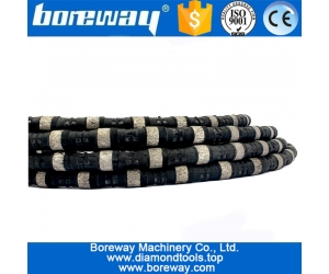 Diamond Wire Saw Diameter 11mm Rubber Rope Saw For Stone Cutting Saw Profiling And Squaring Abrasive Tool