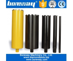 Diamond core drill bits for drilling construction