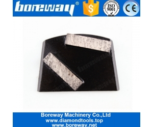 Double Bar Segments Abrasive Diamond Grinding Tools For Lavina Grinder