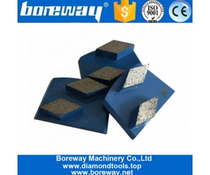 Double Rhombus Segments Lavina Diamond Grinding Shoes For Concrete And Stone Floor