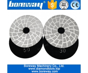 Factory supply Dia. 4inch 100mm Vacuum Brazed Diamond Grinding Disc Shaping Or Beveling Dry or Wet used Grinding Pad