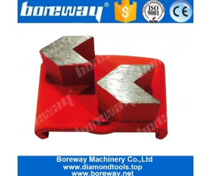 HTC Double Arrow Segment Grinding Pad For Stone Grinding