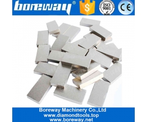 Hot Pressed Diamond Tips Cutting Segment For Marble Granite  Reinforce Concrete Boreway Manufacturer