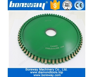 Hot Sell Ceramic Profile Diamond Cutting Wheels D300*B10*50H 100#