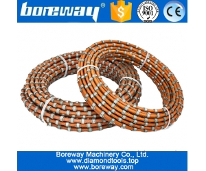 Hot sale portable abrasive diamond wire saw rope and beads for cutting granite marble stone and concrete