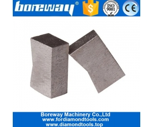K Shape Multi Layer Structure Wet Use Diamond Segments Granite Cutting