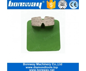 Long Lifespan Metal Bond Diamond Grinding Shoes For Concrete Floor And Stone Surface