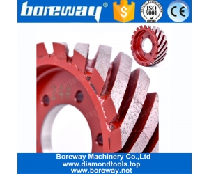 Milling Grinding Tools Diamond Stone Granite Quartz Calibrating Profiling Wheel For Grinding Artificial Calibration Roller Form Boreway Factory