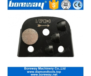 One Bar Segment And Three Half PCD Diamond Epoxy Floor Tools For Lavina Machine