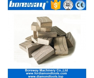 Only Wet Use Sandwich Structure Taper Shape Block Cutting Granite Segment