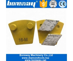 Rhombus Arrow Segments Double Pins Concrete Grinding Block For Concrete Terrazzo Floor