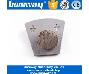 Single Round Segment Two Pins Metal Bond Diamond Grinding Block For Concrete and Terrazzo Floor