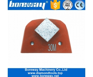 Single Square Segment Lavina Concrete Diamond Grinding Shoes For Concrete Floor Renovation
