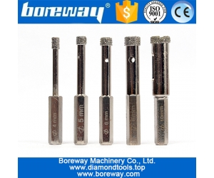 Small Diameter Wet Used Diamond Bur Core Drill Bits For Glass Marble Tile Drilling Hole