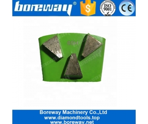Three Trapezoid Segments HTC Concrete Grinding Block For Concrete Floor