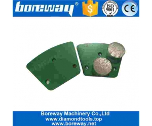 Trapezoid Diamond Grinding Block With Two Round Segment For Concrete Floor Renovation