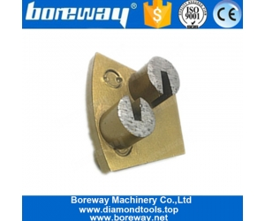 Two Drill Bits Segments Two Pins Blank Grinding Pads For Hard Concrete Coating Epoxy Removal