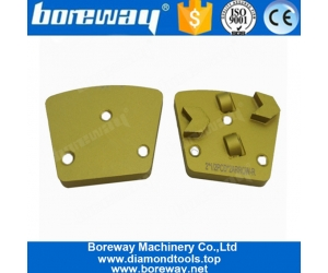 Two Half PCD Arrow Segments Metal Bond Diamond Grinding Shoes For Epoxy Concrete Coating Removing
