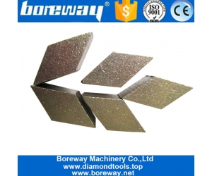 Two Rhombus Grinding Head Renovating Diamond Abrasive Tools Stone Concrete Floor Polishing Segment for HTC Machine