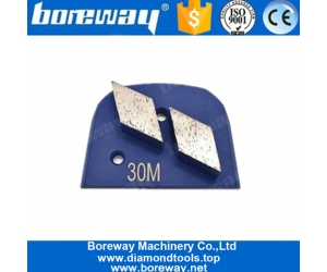 Two Rhombus Segments Lavina Diamond Concrete Grinding Shoes For Lavina Grinder
