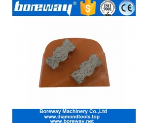 Two Uniqe Segments Perfect Grinding Performace Lavina Diamond Grinding Shoes For Concrete Floor