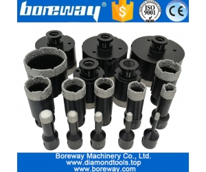 Vacuum Brazed Diamond core drill bits Dry Drilling Bits with 5/8-11 Connection Porcelain Tile Granite Marble Stone Masonry Hole Saw
