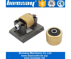 Vacuum Brazed Different Type Bush Hammer Roller Head Block For Sandblast Finish Suppliers