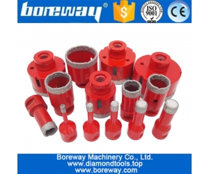 China M14 thread dia.5mm-120mm Vacuum brazed diamond core drill bit for tile porcelain and stone factory
