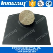China 1 round diamond concrete floor grinding segment with flat-plug factory