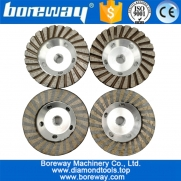 China 100mm Aluminum Based Grinding Cup Wheel Diamond fine grinding with great finishing wholesale grinding wheel factory