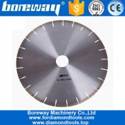 China 12 Inch Silver Weld Diamond Saw Blades for Microcrystal Stone factory