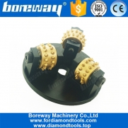 China 125MM Bush Hammer Plate With 3 Rollers On Werkmaster factory