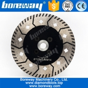 China 125mm granite stone diamond cutting disc with flange M14 factory