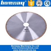 China 14 Inch Fish Hook Slot Diamond Cutting Saw Blade for Marble factory